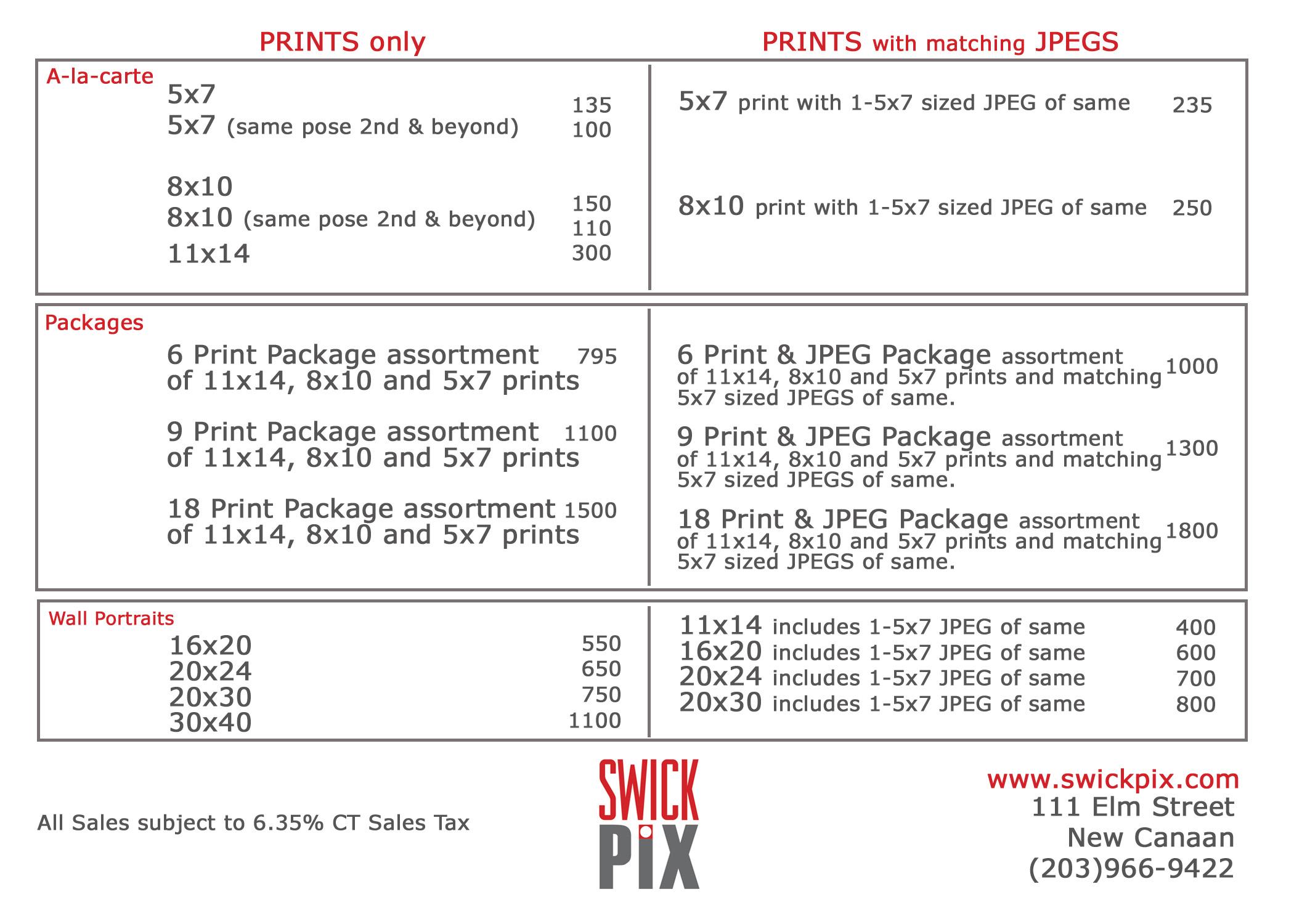 SP Price menu 2015-2
